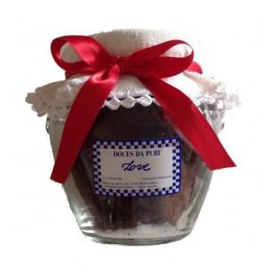 Biscoitos (Vidro c/ Linho e Crochet)